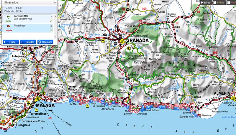 Mapa Torre Del Mar.10 ª Etapa Vuelta A Espana Mtb